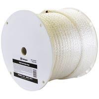 "Wellington G1032S0250S Solid Braided Nylon Rope Spool, 1/2"" x 250', White"