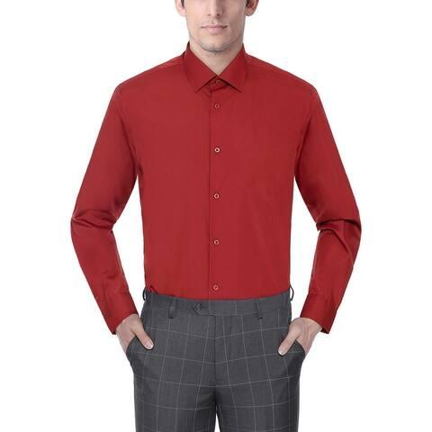 Men's Regular/Classic Fit Dress Shirts Long Sleeve Dress Shirt for Men