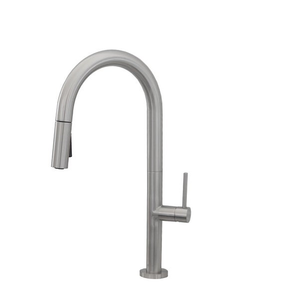 Modern Kitchen Sink Faucet Single Handle Pull Down Dual Mode Lead Free