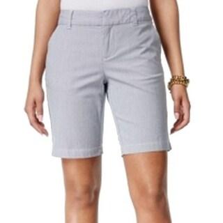 Tommy Hilfiger NEW Blue Striped Women's Size 6 Bermuda Walking Shorts
