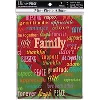 Ultra PRO 58200-R Mini Photo Album, 4 by 6-Inch, Family