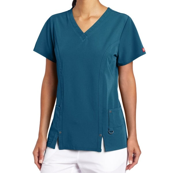 1a886c2a366 Shop Dickies Teal Blue Womens Size Medium M Medical Uniform Scrub Top - On  Sale - Free Shipping On Orders Over $45 - Overstock - 27900816