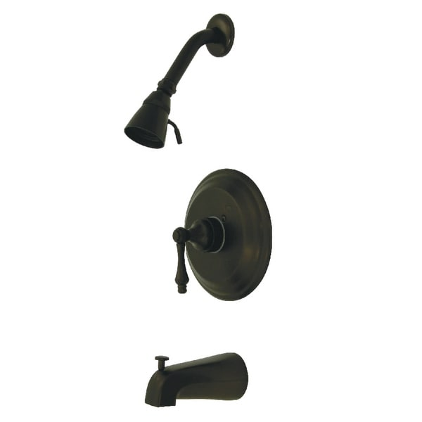 Kingston Brass GKB363.AL Restoration Tub and Shower Trim Package with 1.8 GPM Single Function Shower Head
