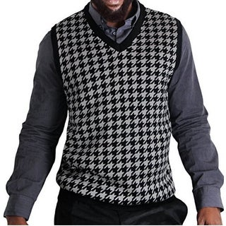 Blue Ocean BIG and TALL Houndstooth Sweater Vest (SV-777BM)