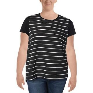 Ralph Lauren Womens Casual Top Short Sleeve Striped