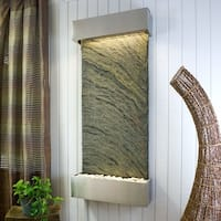 Classic Quarry Nojoqui Falls Wall Fountain Finish Stainless Steel