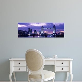 Easy Art Prints Panoramic Images's 'Tower Bridge, Landmark, London, England, United Kingdom' Premium Canvas Art