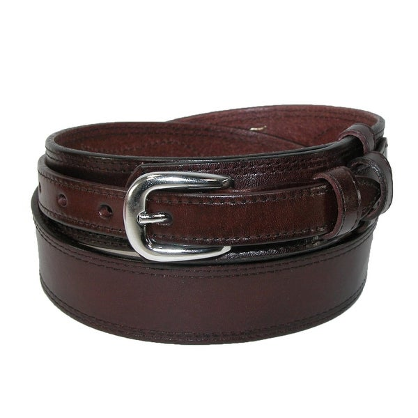 CTM® Men's Big & Tall Leather Removable Buckle Ranger Belt
