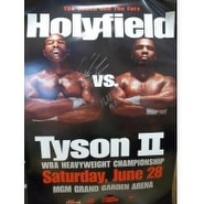 Signed Holyfield Evander  Tyson Mike 24x36 Poster by Evander Holyfield and Mike Tyson autographed