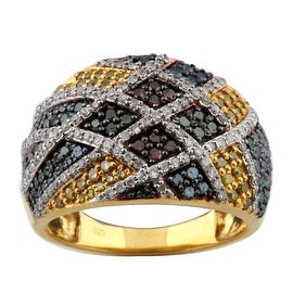 1.03 Total Carat Weight Multi Color Diamond Designer Ring