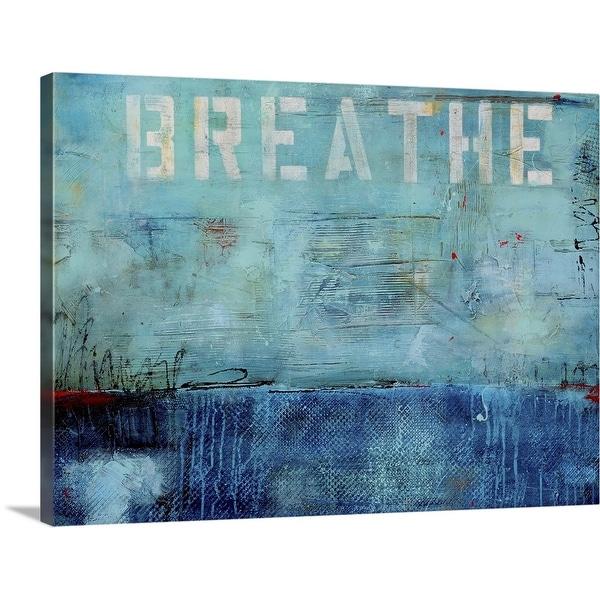 """Breathe"" Canvas Wall Art"