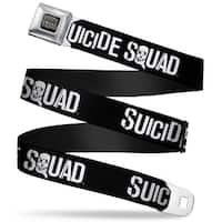 Suicide Squad Logo Full Color Black Gray Suicide Squad Logo Black White Seatbelt Belt