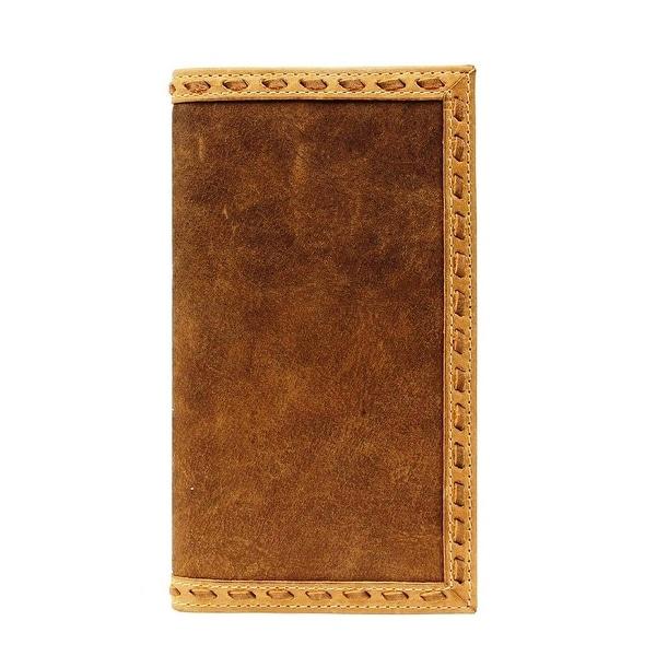 Ariat Western Wallet Mens Rodeo Buckstitch Medium Brown - One size