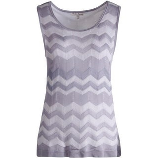 Moon & Meadow Womens Knit Chevron Pullover Top - S