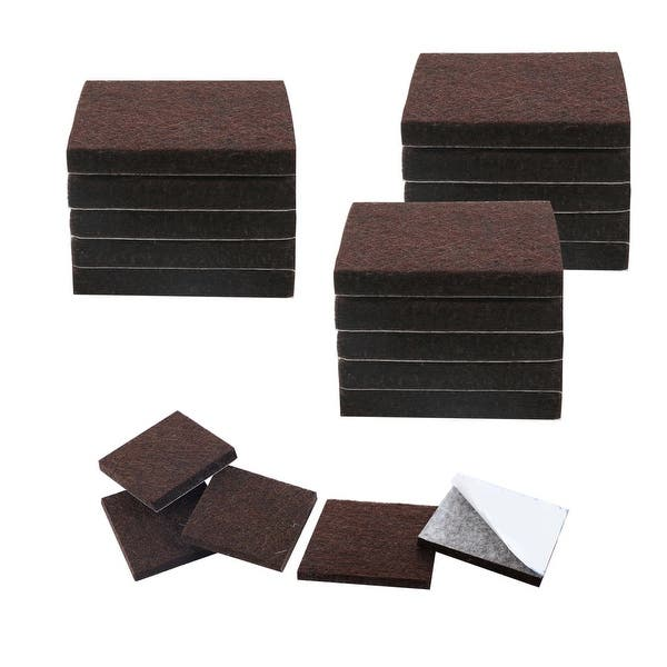 20pcs Felt Furniture Pads Square 3 4 Floor Protector For Chair Leg Brown On Sale Overstock 28852467