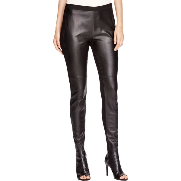 Eileen Fisher Womens Leggings Leather Comfort Waist