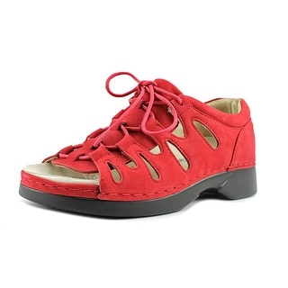 Propet Ghillie Walker Women D Open-Toe Leather Red Fisherman Sandal