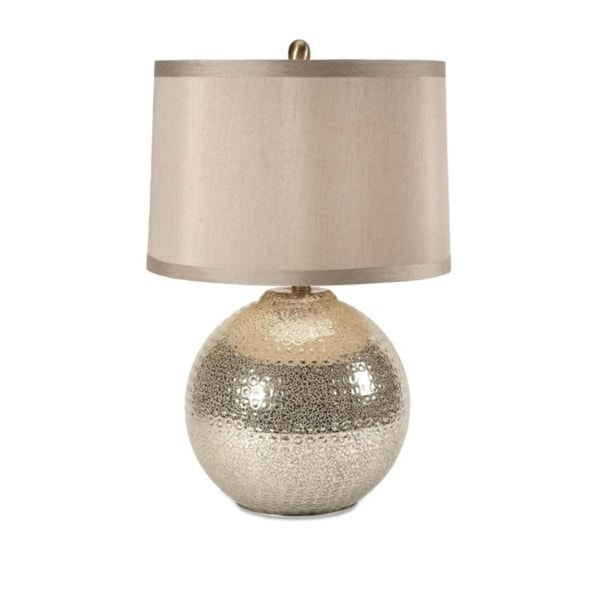 Shop 25 Tan Brown Textured Orb Mercury Ceramic Table Lamp With