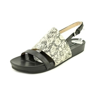 French Connection Sultan Women Open-Toe Leather Slingback Sandal