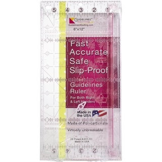 "Guidelines4quilting Guidelines Ruler-6""X12"""