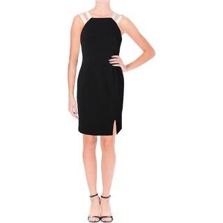 Lauren Ralph Lauren Womens Petites Cocktail Dress Sleeveless Cocktail