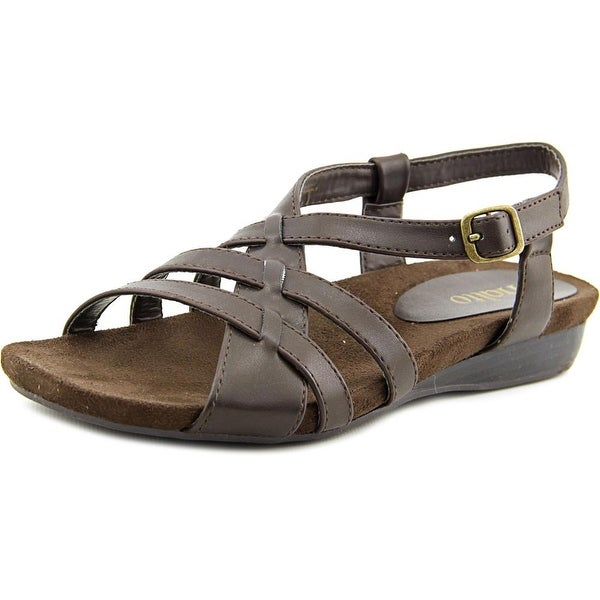 Rialto Charity Women Open-Toe Synthetic Brown Slingback Sandal