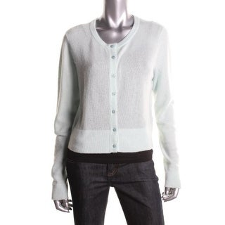 Magaschoni Womens Cashmere Long Sleeves Cardigan Sweater - XS