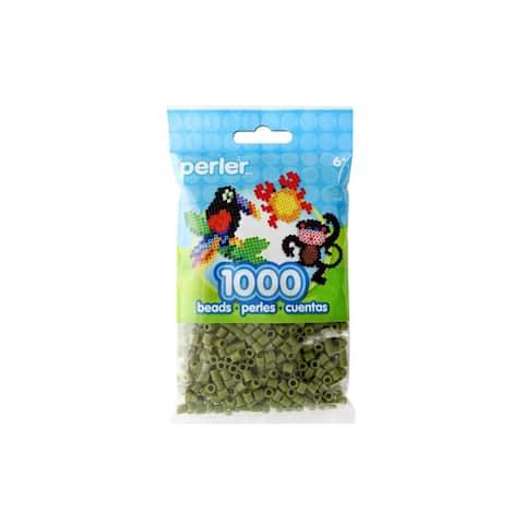 Perler Fused Bead Bag 1000pc Olive - Medium
