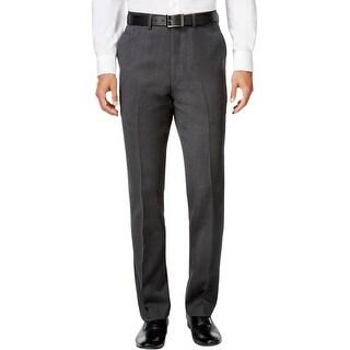 Ryan Seacrest Mens Dress Pants Wool Pindot