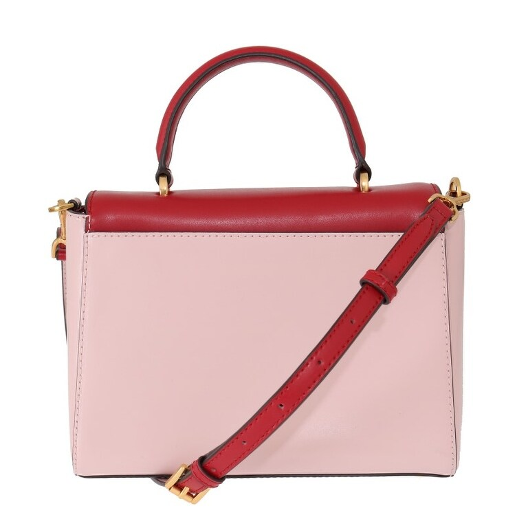 Michael Kors Red Pink MINDY Satchel Crossbody Women's Bag Multi One Size
