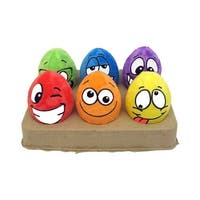 Multipet Egg Noggins Dog Toy 4in