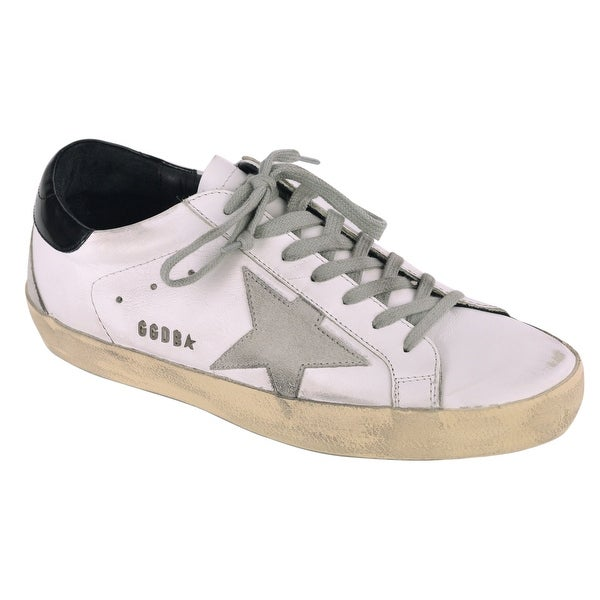 96d4f84483 Shop Golden Goose Mens White Leather Superstar Sneakers - Free ...