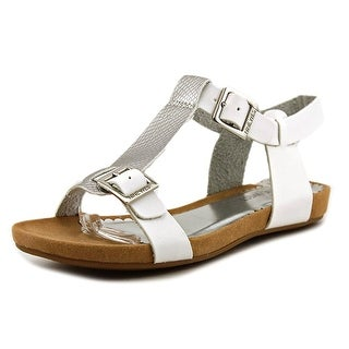 Nine West Taryn Youth Open-Toe Leather White Slingback Sandal