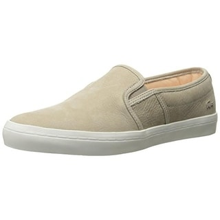 Lacoste Womens Leather Contrast Trim Casual Shoes - 8 medium (b,m)