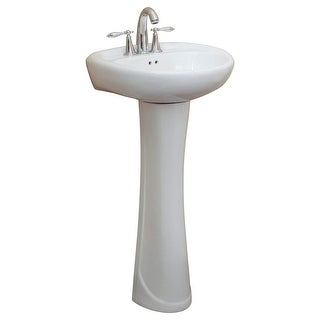 Link to Fine Fixtures Ceramic 19.25-inch White Pedestal Sink Similar Items in Sinks