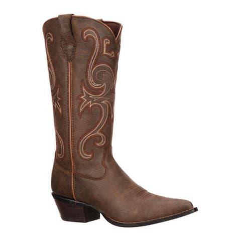 """Durango Boot Women's RD3593 13"""" Crush Brown"""