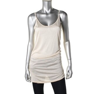 Zara W&B Collection Womens Adjustable Straps Solid Pullover Top - M