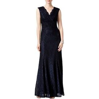 Tahari ASL Womens Formal Dress Lace Glitter