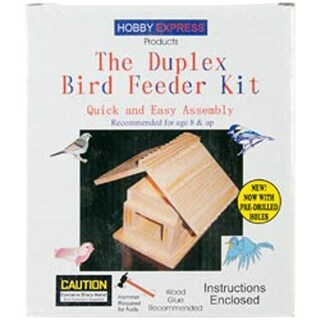 Duplex Bird Feeder - Unfinished Wood Kit