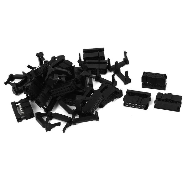 Unique Bargains 20Pcs FC-12P 12Pin 2.54mm Pitch ISP JTAG Socket Connector for Flat Ribbon Cable