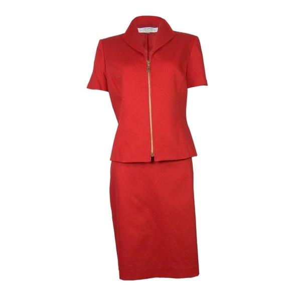 Tahari by ASL Women's Newport Nautical Skirt Suit - Nautical Red