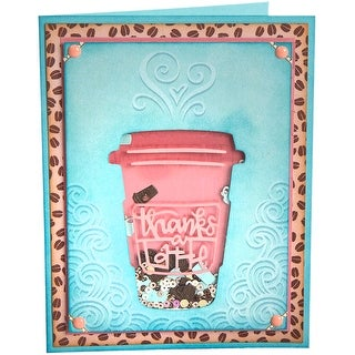 Sizzix Impresslits Embossing Folder By Lindsey Serata-Thanks A Latte