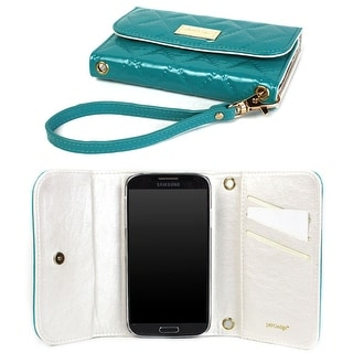 JAVOedge Vintage Quilted Wallet Case for the Samsung Galaxy S4 (Turquoise) - Turquoise