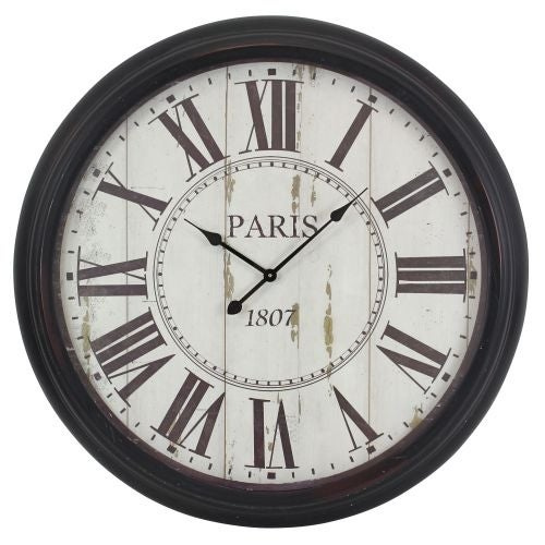 Aspire Home Accents 5314 Constance Round Wall Clock - Black - N/A