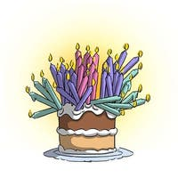 Birthday Cake - Art Impressions Girlfriends Cling Rubber Stamp