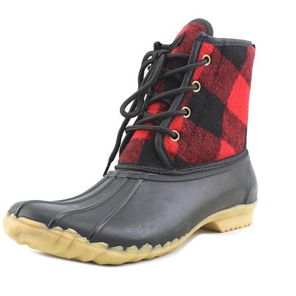 Chooka Eastlake Duck Women Round Toe Synthetic Red Rain Boot