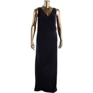 Patra Womens Plus Faux Wrap Embellished Semi-Formal Dress - 18W
