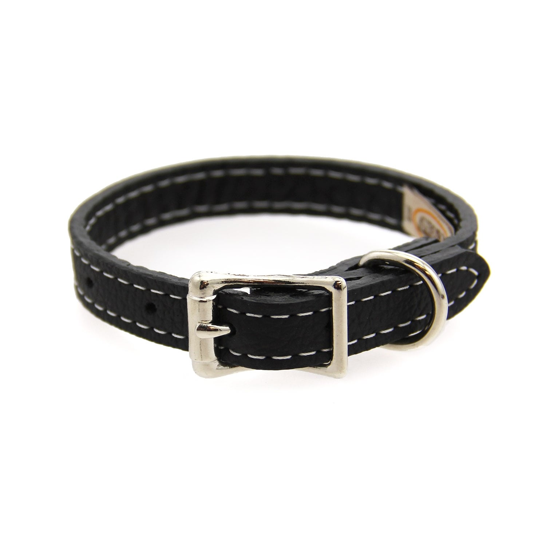 Tuscan Leather Dog Collar by Auburn Leather (Orange - 1 Width x 22 Length)