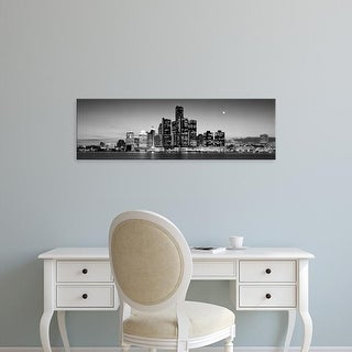 Easy Art Prints Panoramic Images's 'Buildings at the waterfront, River Detroit, Detroit, Michigan, USA' Canvas Art