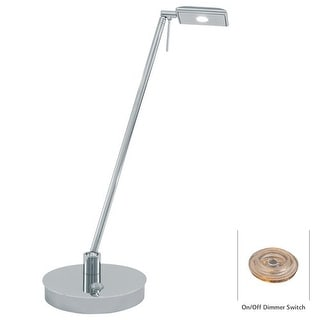 Kovacs P4326-077 1 Light LED Desk Lamp in Chrome from the George's Reading Room-Tablet Collection